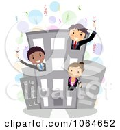 Clipart Business Party Royalty Free Vector Illustration