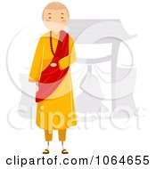 Clipart Monk Standing Royalty Free Vector Illustration