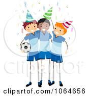 Clipart Soccer Party Royalty Free Vector Illustration