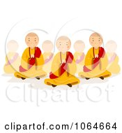 Clipart Monks In Prayer Royalty Free Vector Illustration