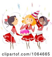 Clipart Cheerleader Themed Birthday Party Royalty Free Vector Illustration