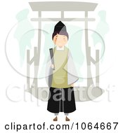 Clipart Shinto Priest Royalty Free Vector Illustration