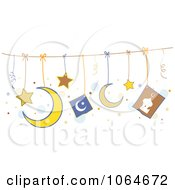 Clipart Hanging Islam Symbols Royalty Free Vector Illustration