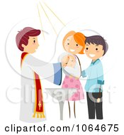 Clipart Baby Getting Baptized Royalty Free Vector Illustration