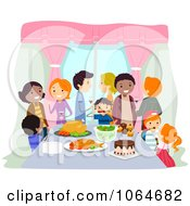 Clipart Feast At A Housewarming Party Royalty Free Vector Illustration