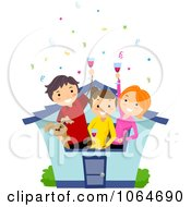 Clipart House Warming Party Royalty Free Vector Illustration