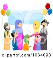 Clipart Muslim Eid Party Royalty Free Vector Illustration