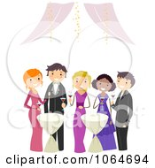 Clipart Teens At Prom Royalty Free Vector Illustration