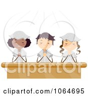 Clipart Teens Kneeling In Prayer Royalty Free Vector Illustration