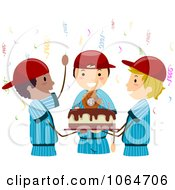 Clipart Baseball Birthday Party Royalty Free Vector Illustration