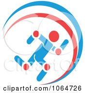 Clipart Runner With Highlighted Joints Royalty Free Vector Illustration