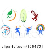 Clipart People Logos Royalty Free Vector Illustration