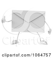 Clipart 3d Thumbs Up Envelope 1 Royalty Free CGI Illustration