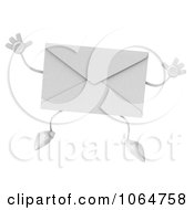 Clipart 3d Envelope Jumping Royalty Free CGI Illustration