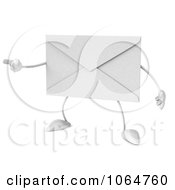Clipart 3d Envelope Pointing Royalty Free CGI Illustration