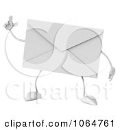 Clipart 3d Envelope With An Idea Royalty Free CGI Illustration