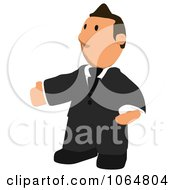 Clipart Business Toon Guy Welcoming 1 Royalty Free CGI Illustration
