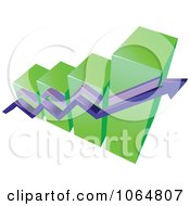 Clipart Bar Graph And Arrow 12 Royalty Free Vector Illustration
