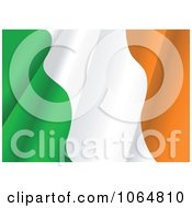 Clipart Waving Irish Flag Royalty Free Vector Illustration