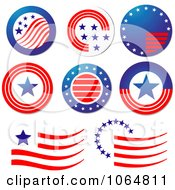 Clipart Patriotic American Elements 1 Royalty Free Vector Illustration by Vector Tradition SM