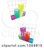 Clipart Bar Graphs 4 Royalty Free Vector Illustration