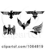 Clipart Eagles Collage 1 Royalty Free Vector Illustration