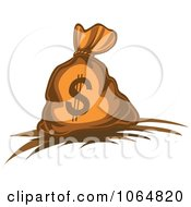 Clipart Dollar Symbol Money Bag 5 Royalty Free Vector Illustration by Vector Tradition SM