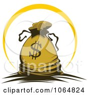 Clipart Dollar Symbol Money Bag 1 Royalty Free Vector Illustration by Vector Tradition SM