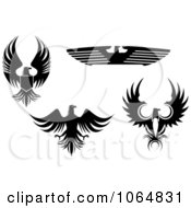 Clipart Eagles Collage 5 Royalty Free Vector Illustration