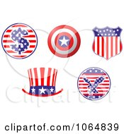 Clipart Patriotic American Elements 3 Royalty Free Vector Illustration