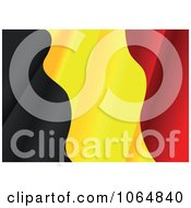 Clipart Waving Belgium Flag Royalty Free Vector Illustration