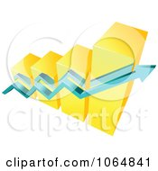 Clipart Bar Graph And Arrow 14 Royalty Free Vector Illustration