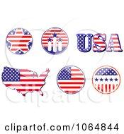 Clipart Patriotic American Elements 2 Royalty Free Vector Illustration