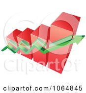 Clipart Bar Graph And Arrow 13 Royalty Free Vector Illustration