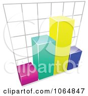 Clipart Bar Graph 4 Royalty Free Vector Illustration