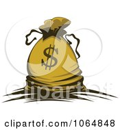 Clipart Dollar Symbol Money Bag 3 Royalty Free Vector Illustration by Vector Tradition SM