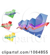 Clipart Bar Graphs 1 Royalty Free Vector Illustration