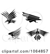 Clipart Eagles Collage 4 Royalty Free Vector Illustration