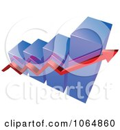 Clipart Bar Graph And Arrow 15 Royalty Free Vector Illustration