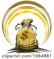 Clipart Dollar Symbol Money Bag 4 Royalty Free Vector Illustration by Vector Tradition SM