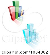 Clipart Bar Graphs 5 Royalty Free Vector Illustration