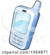Clipart Blue Cell Phone Royalty Free Vector Illustration