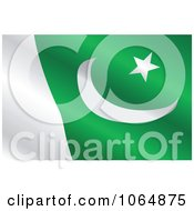 Clipart Waving Pakistan Flag Royalty Free Vector Illustration