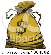 Clipart Dollar Symbol Money Bag 2 Royalty Free Vector Illustration
