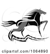 Clipart Prancing Horse 2 Royalty Free Vector Illustration