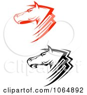 Clipart Horses Collage 5 Royalty Free Vector Illustration