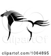 Clipart Standing Horse Royalty Free Vector Illustration