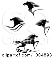 Clipart Horses Collage 3 Royalty Free Vector Illustration
