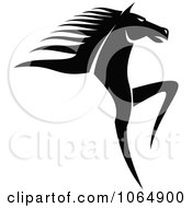 Clipart Prancing Horse 1 Royalty Free Vector Illustration