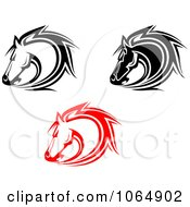 Clipart Horses Collage 6 Royalty Free Vector Illustration